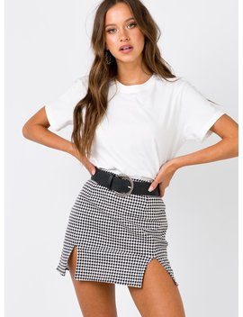 Motel Zida Skirt Black/White by Motel