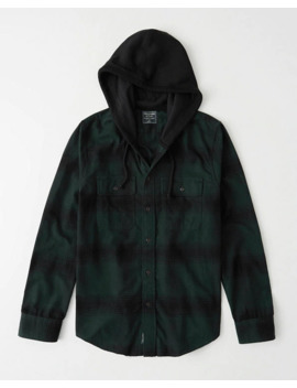 Hooded Shirt Jacket by Abercrombie & Fitch