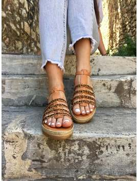 Flat Sandals, Greek Leather Sandals, Gladiator Sandals, Greek Sandals, Handmade Sandals, Animal Print Color, Made From 100% Genuine Leather. by Etsy