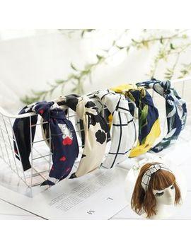 Rosemarie   Print Knot Headband by Rosemarie