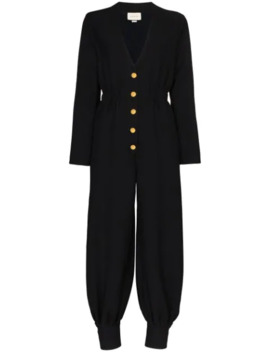 Alione V Neck Jumpsuit by Gucci