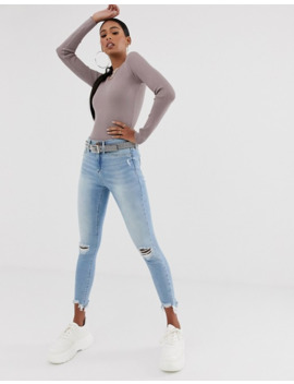 Missguided Tall Knitted Bodysuit In Dusky Mauve by Missguided's