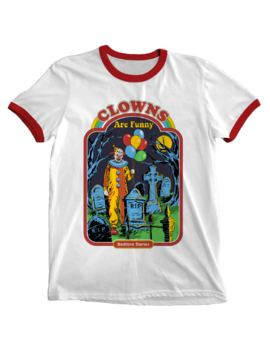 'clowns Are Funny' Ringer Shirt by Wicked
