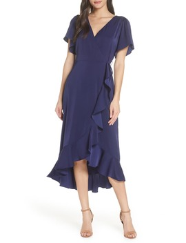 Midi Ruffle Wrap Dress by Chelsea28