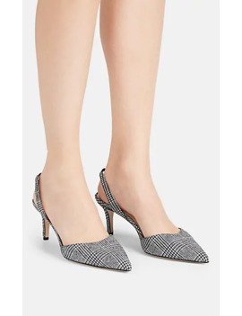 Plaid Wool Slingback Pumps by Barneys New York