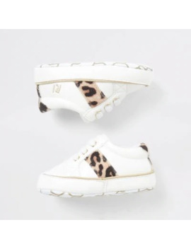 Baby Cream Leopard Trainer by River Island