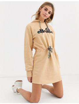 Ellesse Hoodie Dress With Front Logo And Drawstring Waist by Ellesse