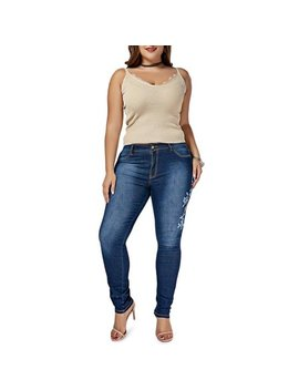 Women's Pencil Stretch Denim Skinny Slim Jeans Pants High Waist Bottoms Trousers by Utowu