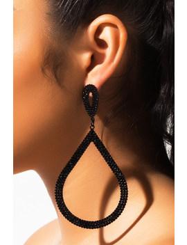 Damn Rhinestone Earring by Akira