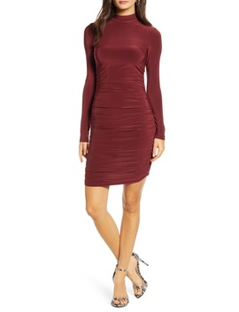 Bridget Ruched Long Sleeve Body Con Minidress by Tiger Mist