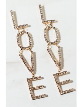 Love Rhinestone Earring by Akira
