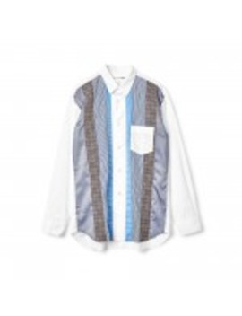 Comme Des Garçons Shirt Houndstooth Shirt (White) by Dover Street Market
