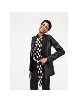 Zendaya Leather Tailored Blazer by Tommy Hilfiger