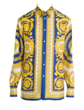 Baroque Silk Shirt by Versace