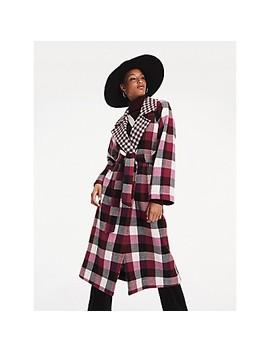 Zendaya Check Coat by Tommy Hilfiger