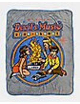 Devil's Music Sing Along Sherpa Fleece Blanket   Steven Rhodes by Spencers