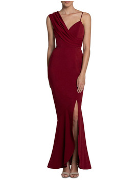 Jennifer Drape Shoulder Gown by B By Bariano