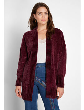 All About Hue Chenille Cardigan by Modcloth