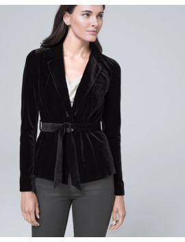 Velvet Belted Jacket by Whbm