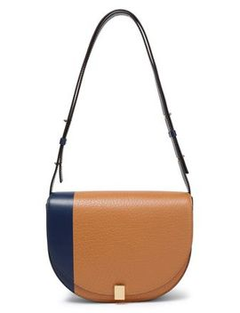 Two Tone Textured Leather Shoulder Bag by Victoria Beckham