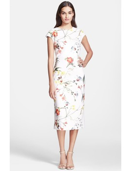 'botanical Bloom' Print Sheath Dress by Ted Baker London