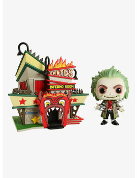 Funko Beetlejuice Pop! Town Beetlejuice With Dante's Inferno Room Vinyl Figures Hot Topic Exclusive by Hot Topic