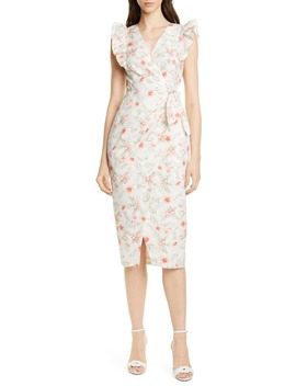 Kamea Wrap Style Cotton & Linen Dress by Rebecca Taylor