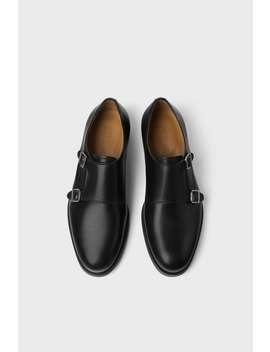 Chaussures En Cuir À Deux Boucles by Zara
