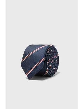 Cravate Slim En Jacquard À Rayures by Zara