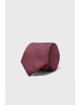Cravate Large En Jacquard GÉomÉtrique by Zara