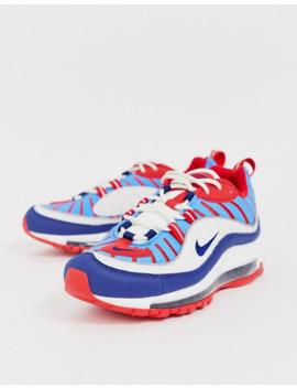 Air Max 98 Sneakers I Rød, Hvid Og Blå Fra Nike by Nike