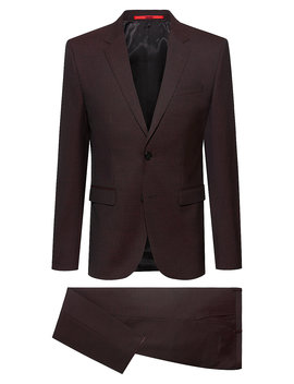 Extra Slim Fit Suit In A Virgin Wool Blend Extra Slim Fit Suit In A Virgin Wool Blend by Boss