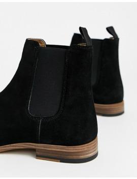 Topman Suede Chelsea Boot In Black by Topman