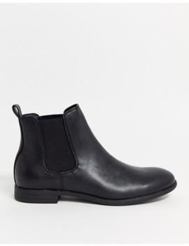 Jack & Jones Faux Leather Chelsea Boots In Black by Jack & Jones