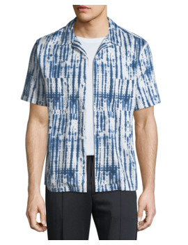 Men's Shibori Printed Cabana Shirt by Vince