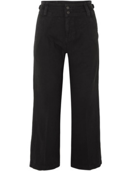 The Relaxed Army Cotton And Linen Blend Wide Leg Pants by Current/Elliott