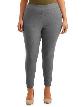 Terra & Sky Women's Plus Size Sueded Full Length Legging by Terra & Sky