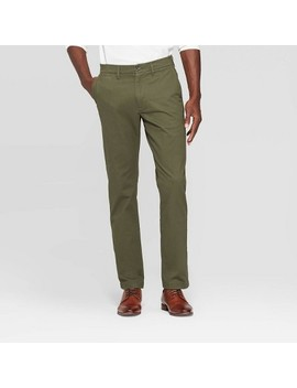 "Men's 32"" Athletic Fit Chino Pants   Goodfellow & Co™ Paris Green by Goodfellow & Co"