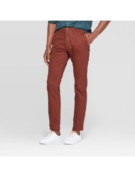 "Men's 32"" Slim Fit Chino Pants   Goodfellow & Co™ Pecan Pie by Goodfellow & Co"