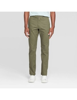 "Men's 32"" Slim Fit Chino Pants   Goodfellow & Co™ Paris Green by Goodfellow & Co"