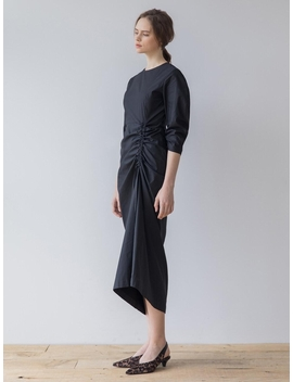 Shirring Detailed Dress Black by Refined902