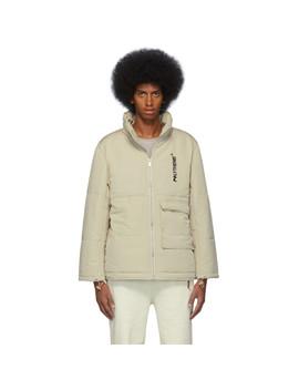 Beige Puffer Jacket by Polythene* Optics