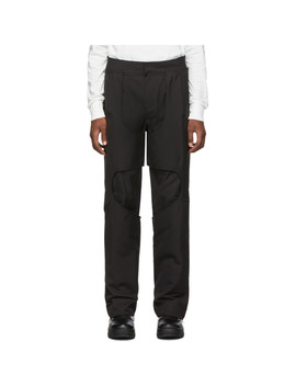 Black 2.0 Center Trousers by Post Archive Faction