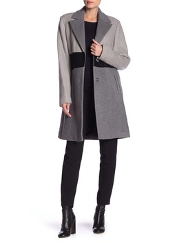 Colorblock Boucle Coat by Laundry By Shelli Segal