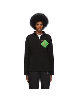 Black Fleece Quarter Zip Sweatshirt by Polythene* Optics
