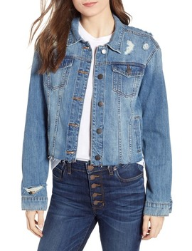 Boyfriend Crop Denim Jacket (Bandini) by Sts Blue
