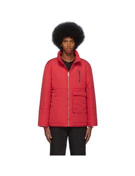 Red Puffer Jacket by Polythene* Optics
