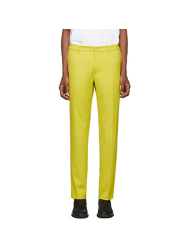 Yellow Wool Trousers by 424