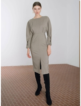 Check H Line Dress by Diagonal