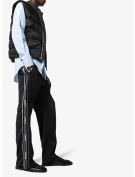 Black Cosy Leather Bb Logo Slippers by Balenciaga